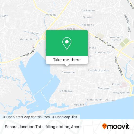 Sahara Junction Total filling station map