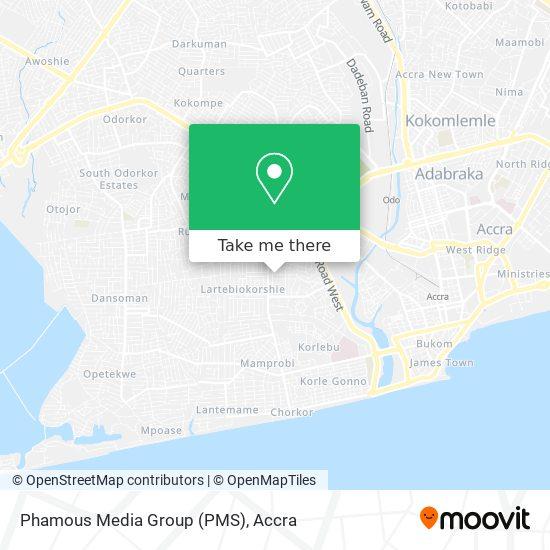 Phamous Media Group (PMS) map