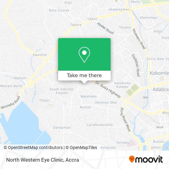 North Western Eye Clinic map