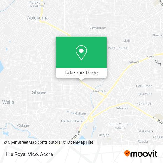 His Royal Vico map