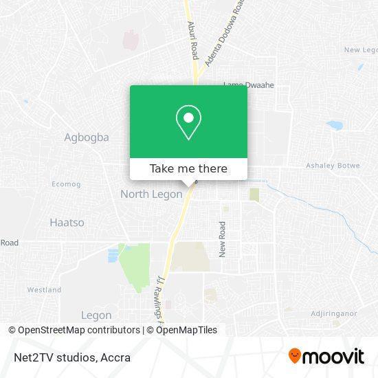 Net2TV studios map
