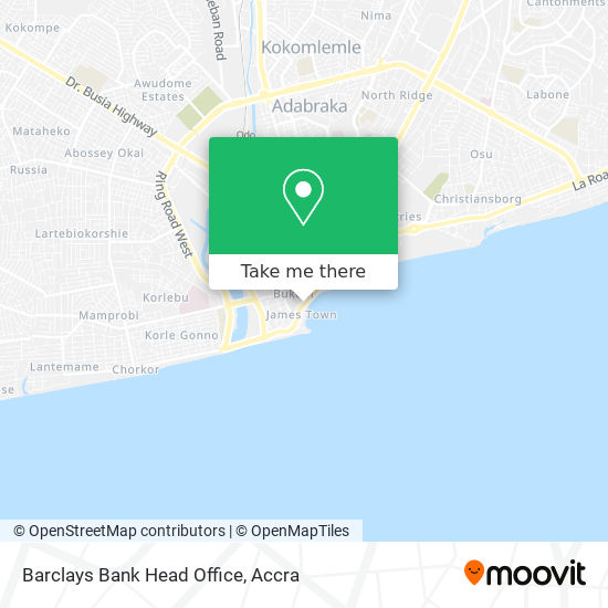 Barclays Bank Head Office map