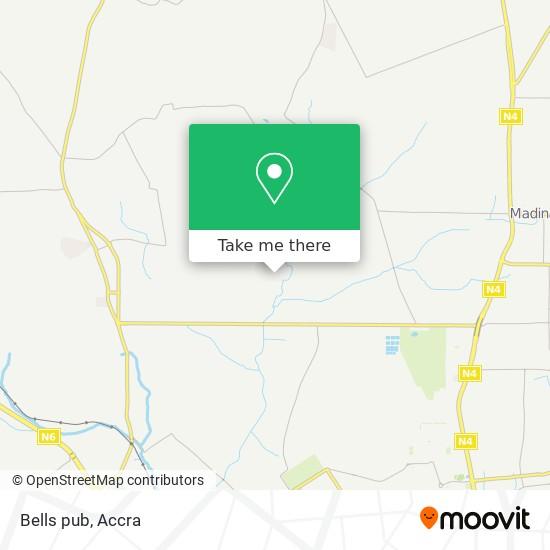 Bells pub map