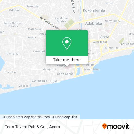 Tee's Tavern Pub & Grill map