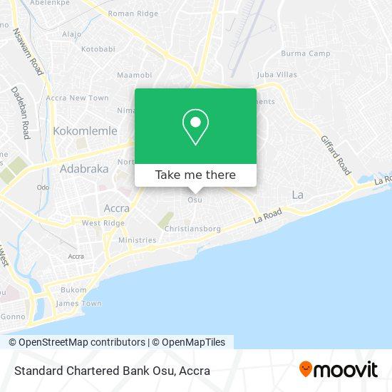 Standard Chartered Bank Osu map