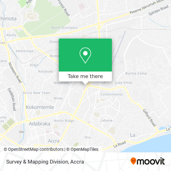 Survey & Mapping Division map