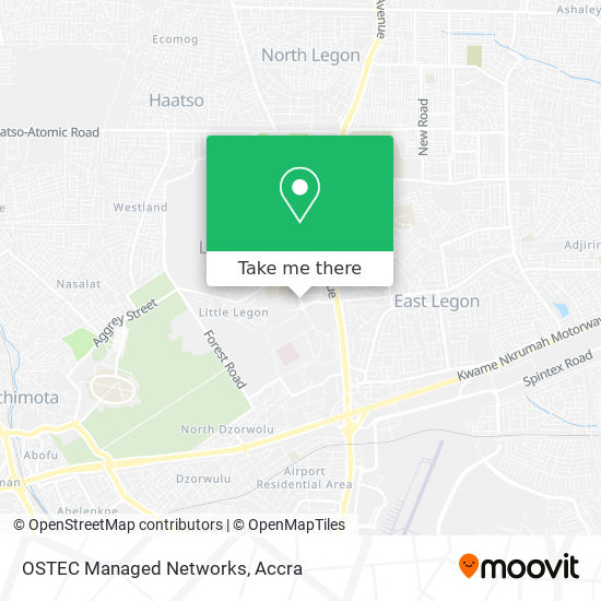 OSTEC Managed Networks map