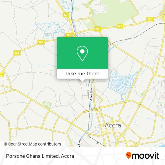 Porsche Ghana Limited map