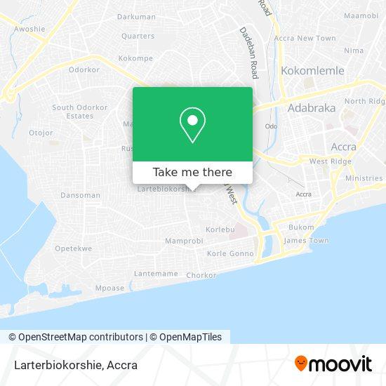 Larterbiokorshie map