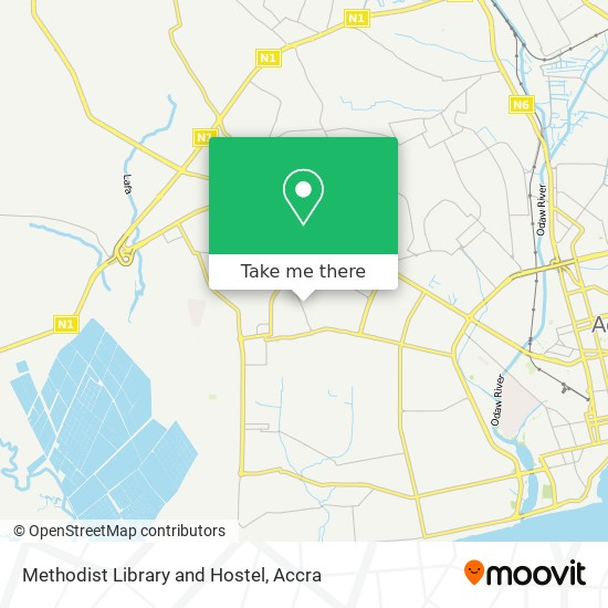 Methodist Library and Hostel map