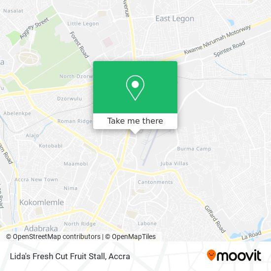 Lida's Fresh Cut Fruit Stall map