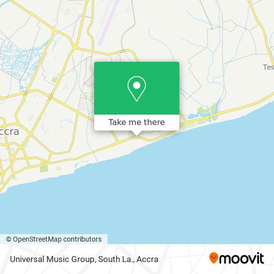 Universal Music Group, South La. map