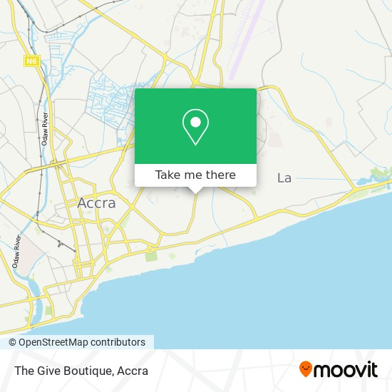 The Give Boutique map