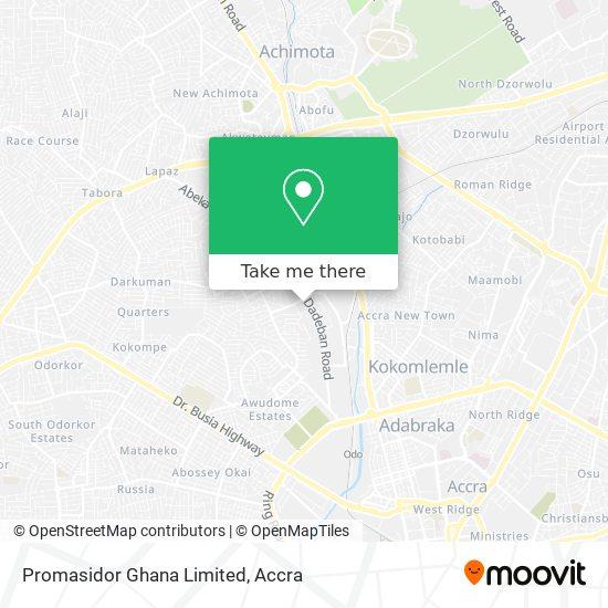 Promasidor Ghana Limited map