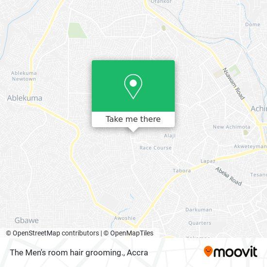 The Men's room hair grooming. map