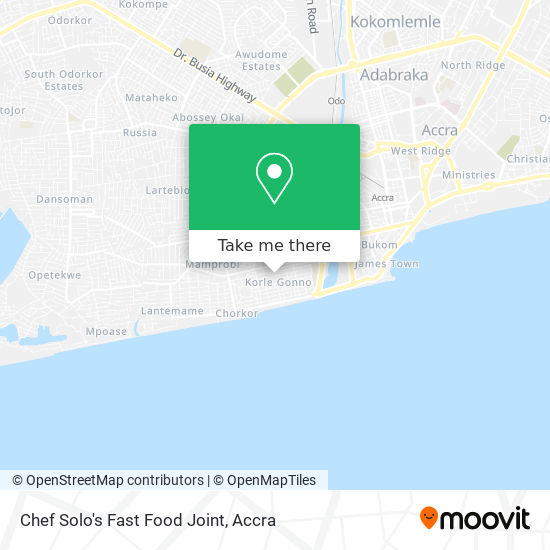 Chef Solo's Fast Food Joint map