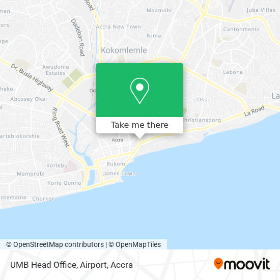 UMB Head Office, Airport map