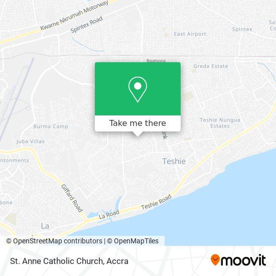 St. Anne Catholic Church map