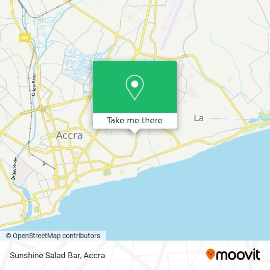 Sunshine Salad Bar map