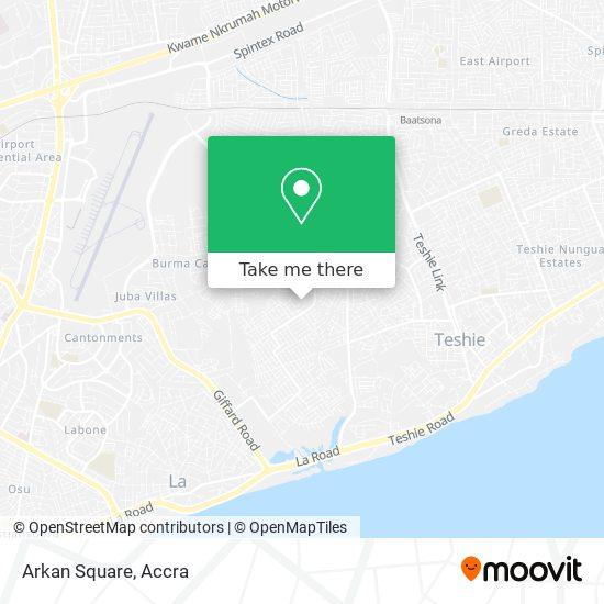 Arkan Square map