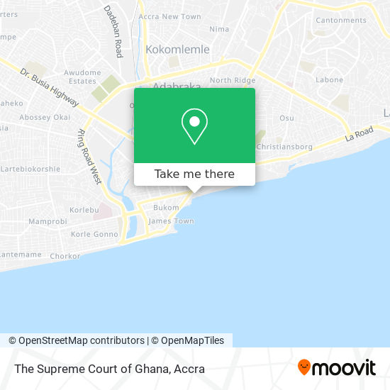The Supreme Court of Ghana map