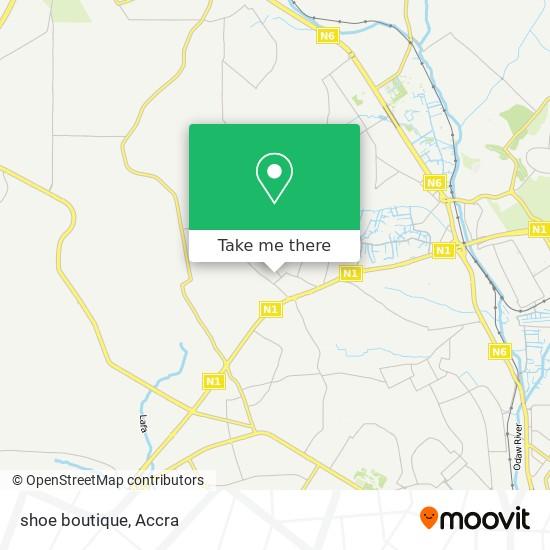shoe boutique map
