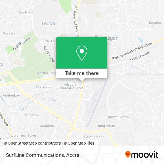 SurfLine Communications map
