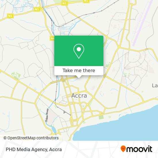 PHD Media Agency map
