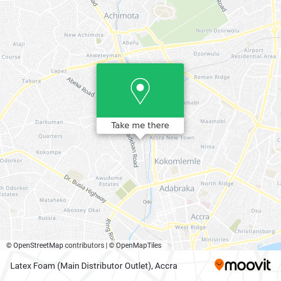 Latex Foam (Main Distributor Outlet) map