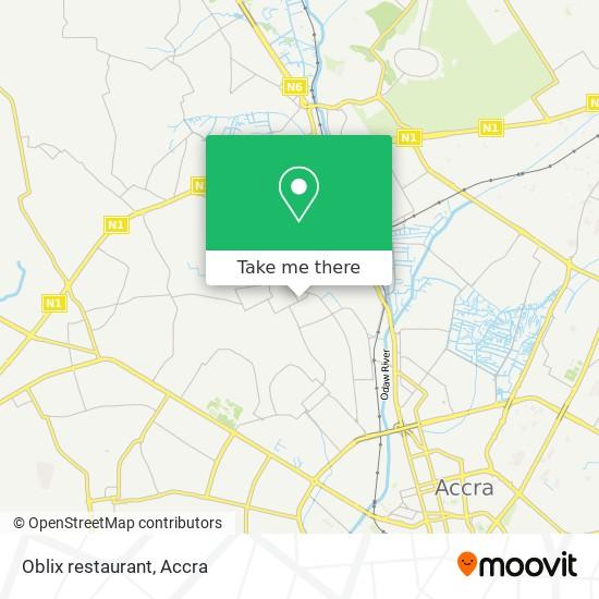 Oblix restaurant map