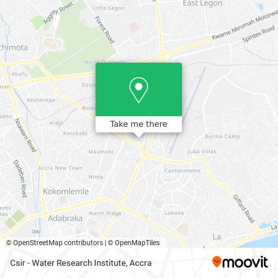 Csir - Water Research Institute map