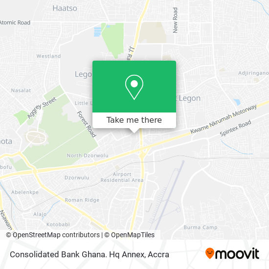 Consolidated Bank Ghana. Hq Annex map