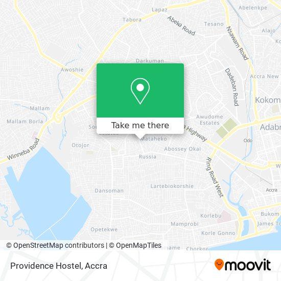 Providence Hostel map