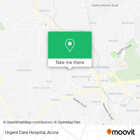Urgent Care Hospital map