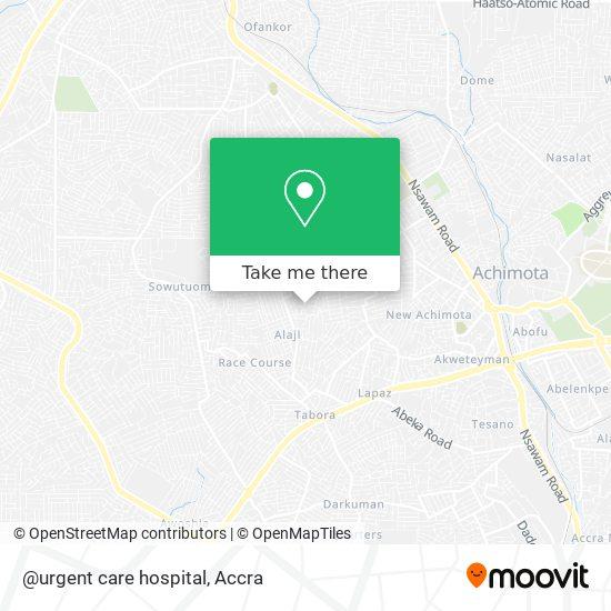 @urgent care hospital map