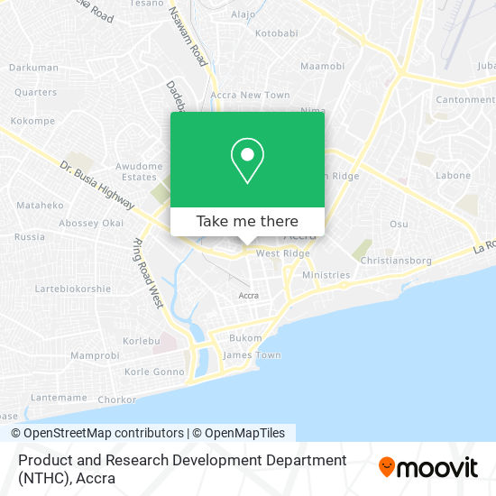 Product and Research Development Department (NTHC) map