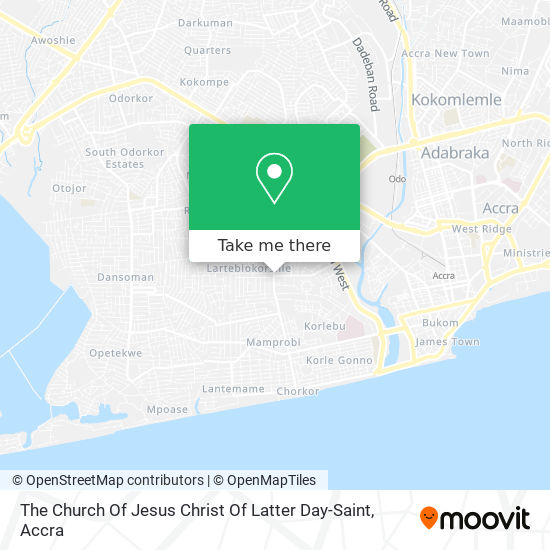 The Church Of Jesus Christ Of Latter Day-Saint map