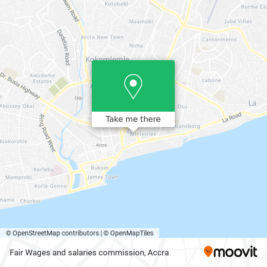 Fair Wages and salaries commission map