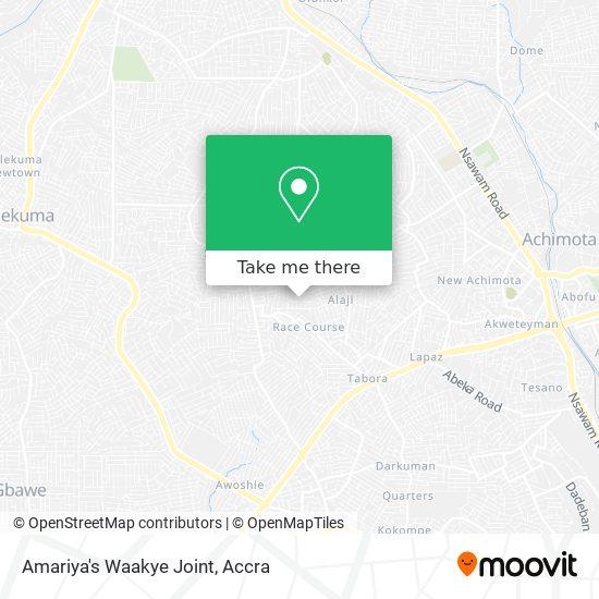 Amariya's Waakye Joint map