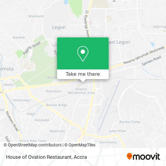 House of Ovation Restaurant map