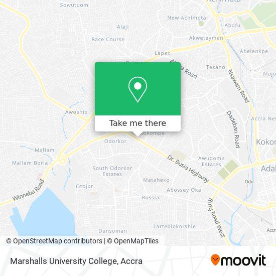 Marshalls University College map