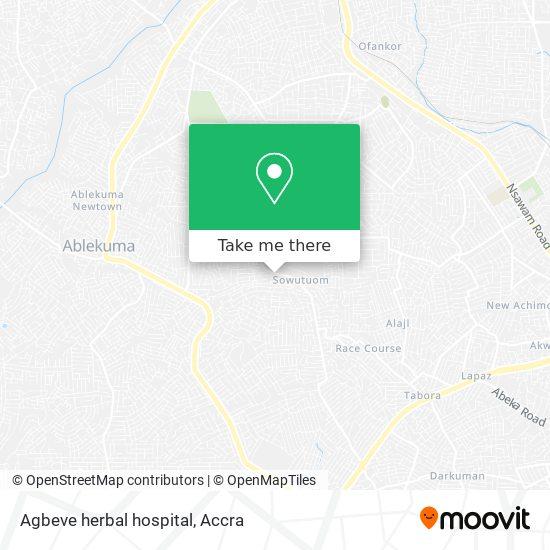 Agbeve herbal hospital map