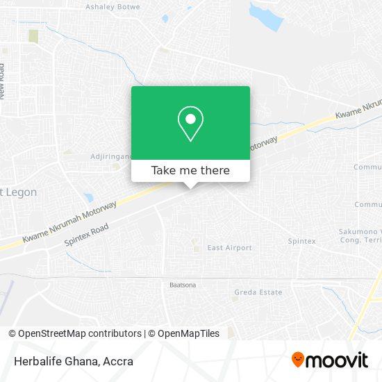 Herbalife Ghana map
