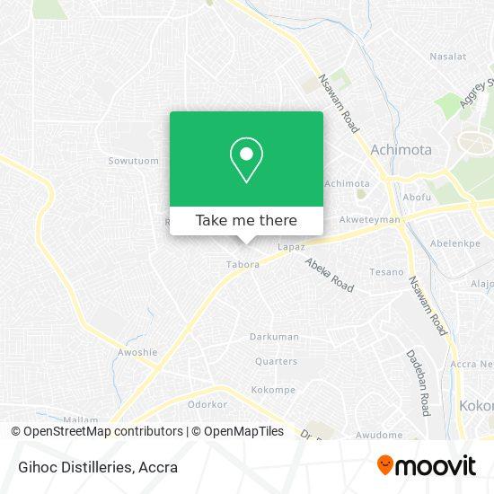 Gihoc Distilleries map