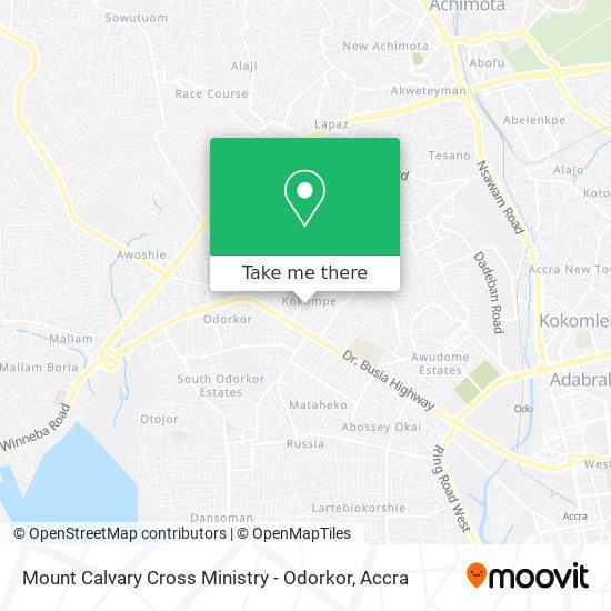 Mount Calvary Cross Ministry - Odorkor map