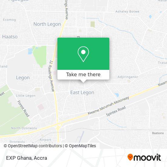 EXP Ghana map