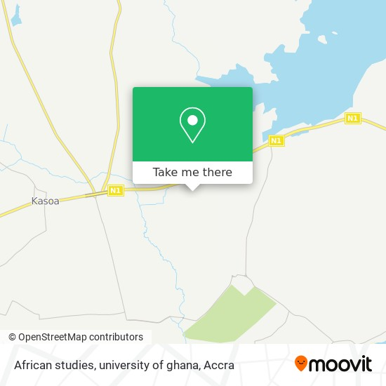 African studies, university of ghana map