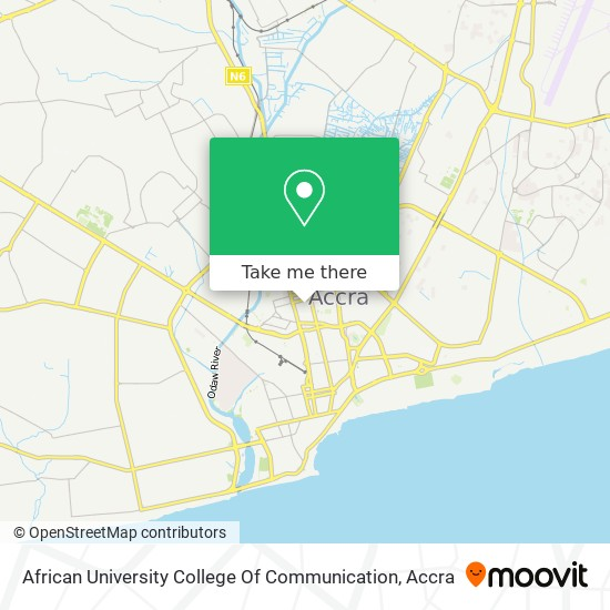 African University College Of Communication map