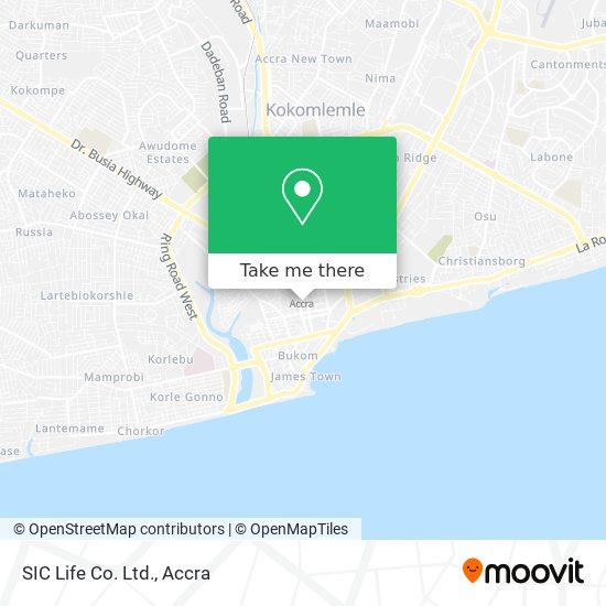 SIC Life Co. Ltd. map