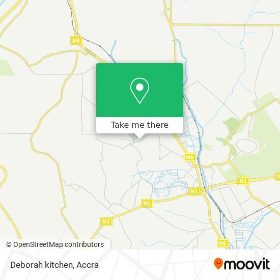 Deborah kitchen map
